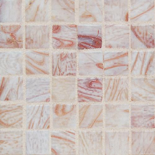 "Daltile Elemental Glass 12"" x 12"" Conch Shell Mosaic - American Fast Floors"