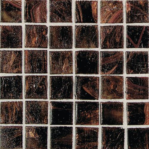 "Daltile Elemental Glass 12"" x 12"" Rootbeer Float Mosaic"