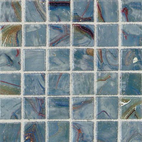 "Daltile Elemental Glass 12"" x 12"" Storm Clouds Mosaic - American Fast Floors"