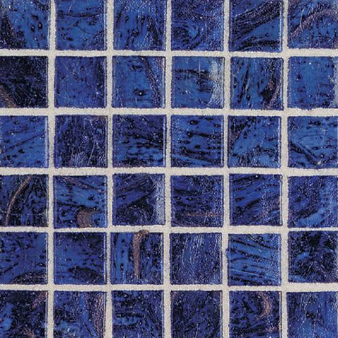"Daltile Elemental Glass 12"" x 12"" Imperial Lapis Mosaic - American Fast Floors"
