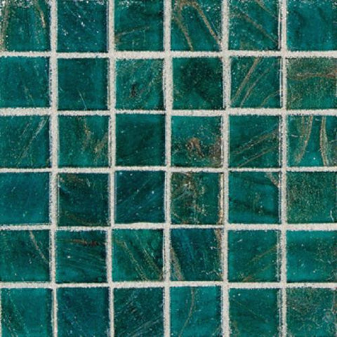 "Daltile Elemental Glass 12"" x 12"" Turquoise Mosaic"