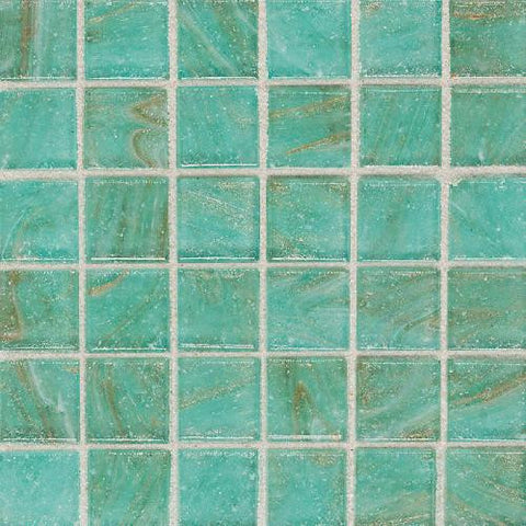"Daltile Elemental Glass 12"" x 12"" Mint Julep Mosaic"