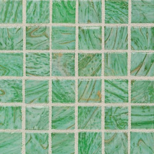 "Daltile Elemental Glass 12"" x 12"" Kiwi Punch Mosaic - American Fast Floors"