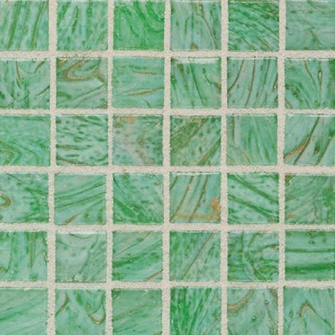 "Daltile Elemental Glass 12"" x 12"" Kiwi Punch Mosaic"