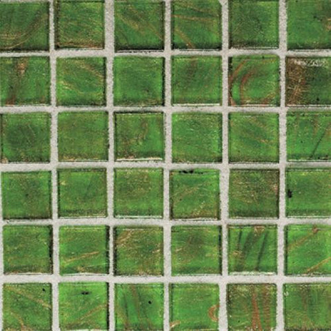 "Daltile Elemental Glass 12"" x 12"" Sour Apple Mosaic"