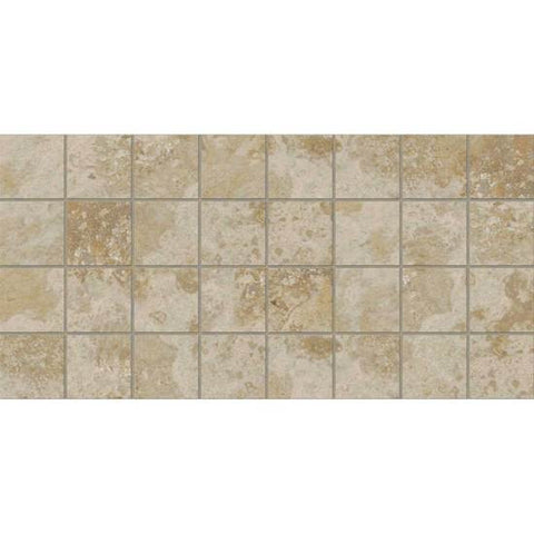 American Olean Stone Claire Bluff 3 x 3 Dot-Mounted Mosaic