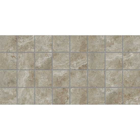 American Olean Stone Claire Ashen 3 x 3 Dot-Mounted Mosaic