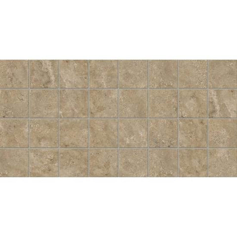 American Olean Stone Claire Russet 3 x 3 Dot-Mounted Mosaic