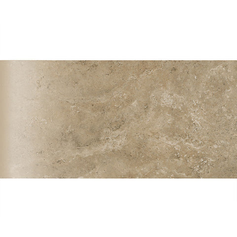 "American Olean Stone Claire 3 x 6 Russet Wall Bullnose 3"" Side"