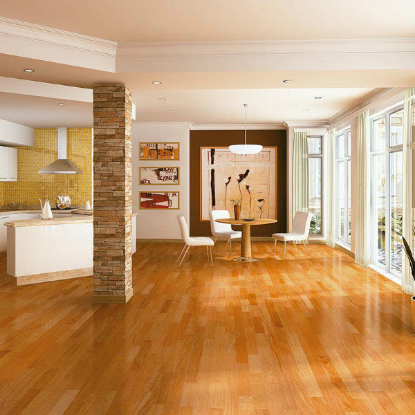 "Triangulo Jatoba Brazilian Cherry 3/8"" x 3-1/4"" Engineered Hardwood - American Fast Floors"