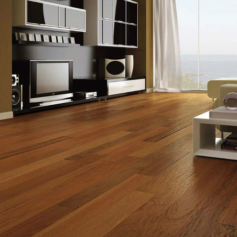 "Triangulo Ipe Brazilian Walnut 1/2"" x 5-1/4"" Engineered Hardwood - American Fast Floors"