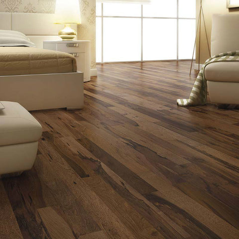 "Triangulo Guajuvira Chocolate Pecan 3/8"" x 3-1/4"" Engineered Hardwood - American Fast Floors"