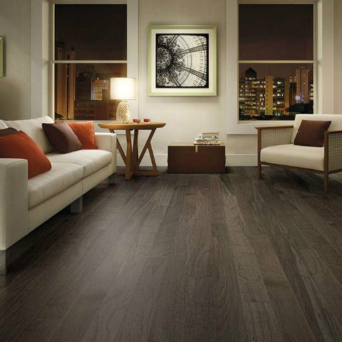 "Triangulo Graffite Spanish Hickory 3/8"" x 5"" Engineered Hardwood - American Fast Floors"