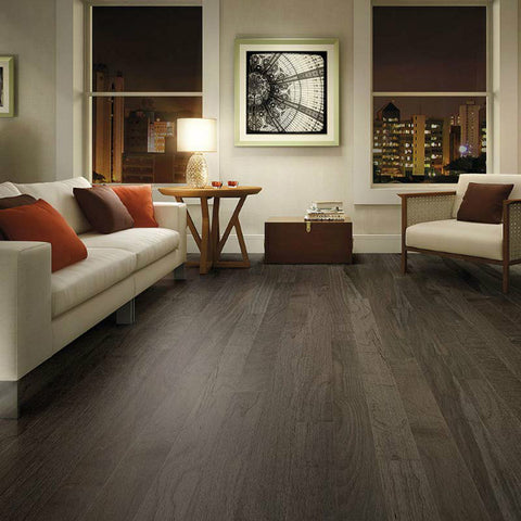 "Triangulo Graffite Spanish Hickory 1/2"" x 6-1/2"" Engineered Hardwood - American Fast Floors"