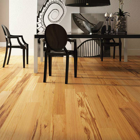 "Triangulo Muiracatiara Tigerwood 3/8"" x 3-1/4"" Engineered Hardwood - American Fast Floors"