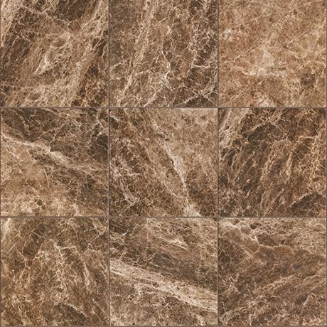 "Marazzi Timeless Collection 13""x13"" Emperador Mocha Rectified Modular Tile"