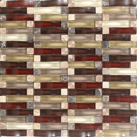 "Daltile Intertwine 11-5/8"" x 11-5/8"" Energy Blend Mosaic"