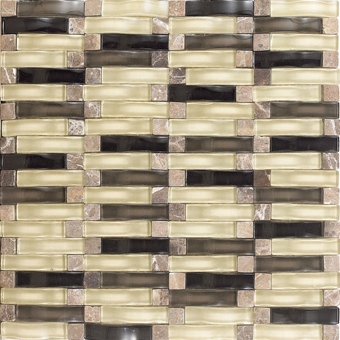 "Daltile Intertwine 11-5/8"" x 11-5/8"" Surge Blend Mosaic - American Fast Floors"