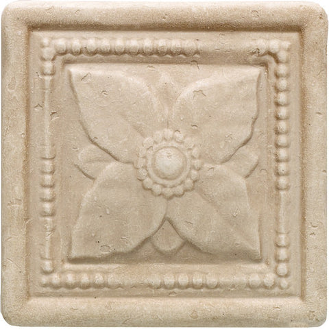 "Daltile Arabesque 4"" x 4"" Crema Laurel"