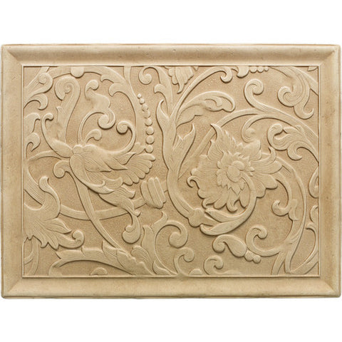 "Daltile Arabesque 12"" x 16"" Sienna Fabrege Mural - American Fast Floors"