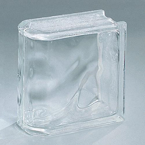 "Daltile Glass Block 7-3/4"" x 7-3/4"" Decora End Block"