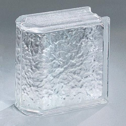 "Daltile Glass Block 7-3/4"" x 7-3/4"" Icescapes End Block - American Fast Floors"