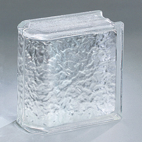 American Olean Glass Block 8 x 8 Icescapes End Block