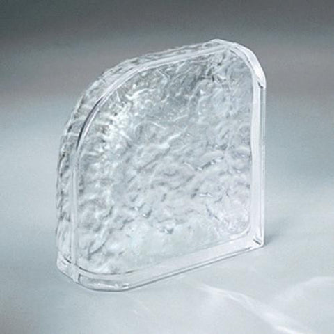 "Daltile Glass Block 7-3/4"" x 7-3/4"" Icescapes Encurve Finishing Unit"