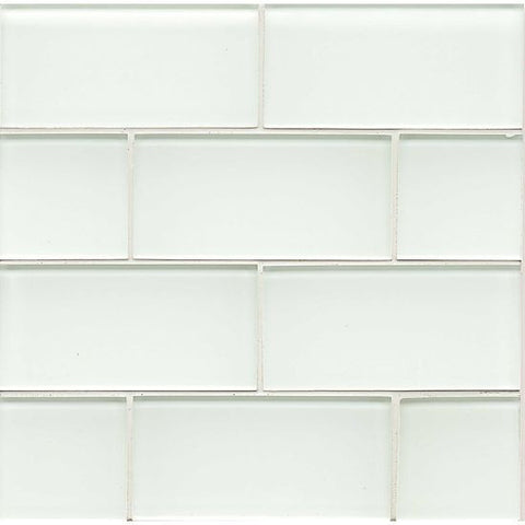Bedrosians Hamptons Glass Tile White Linen