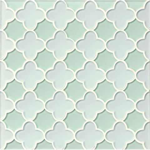 Bedrosians Mallorca Glass Mosaic White Linen / Message in a Bot