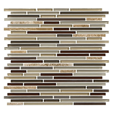 American Olean Generations Passages 3/8 x Random Marble Glass Mosaic