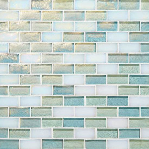 American Olean Garden Oasis 3/4 x 1-1/2 Daylight Sky Brick-Joint Mosaic Blend - American Fast Floors