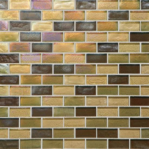 American Olean Garden Oasis 3/4 x 1-1/2 Afternoon Meadow Brick-Joint Mosaic Blend