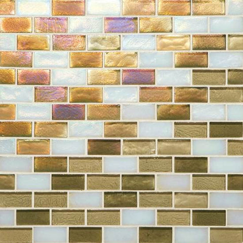 American Olean Garden Oasis 3/4 x 1-1/2 Fresh Pastures Brick-Joint Mosaic Blend