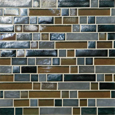 American Olean Garden Oasis Evening Fields 3/4 x Random Linear Mosaic Blend