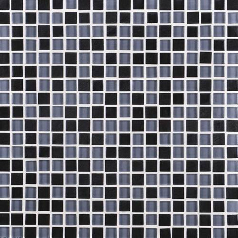 "Daltile Granite Radiance 12"" x 12"" Absolute Black Blend Mosaic - American Fast Floors"