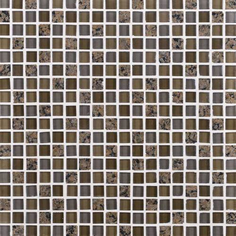 "Daltile Granite Radiance 12"" x 12"" Tropical Brown Blend Mosaic"