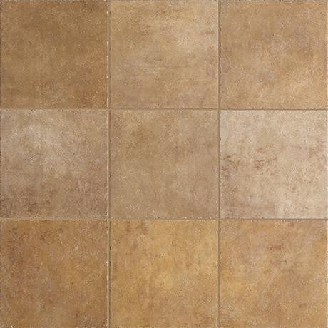"Marazzi Walnut Canyon 13""x13"" Golden Mesh Mounted Brick Mosaic"