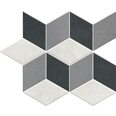 "Marazzi Oxford 12""x12"" Grey Diamond Mosaic"