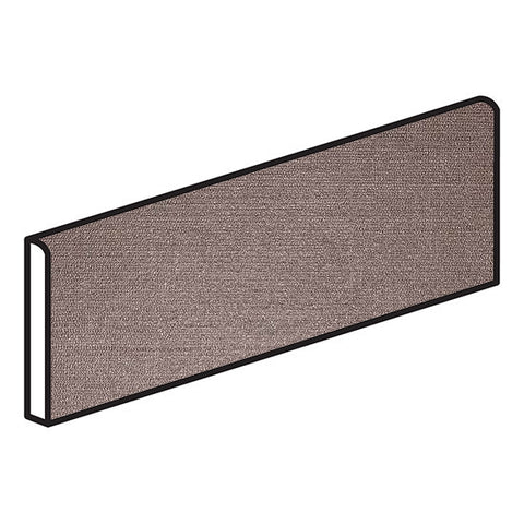 American Olean Infusion 4 x 12 Brown Bullnose - Fabric