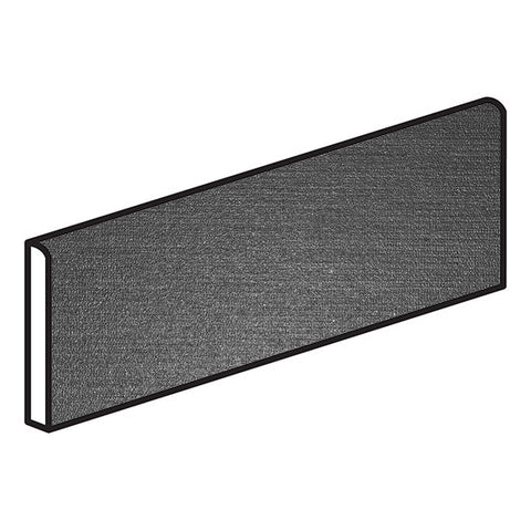 American Olean Infusion 4 x 12 Black Bullnose - Fabric