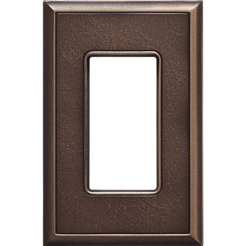 "Daltile Ion Metals 5"" x 3.30"" Antique Bronze Single GFCI Switch Plate - American Fast Floors"