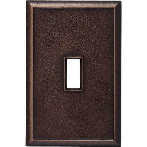 "Daltile Ion Metals 5"" x 3.30"" Antique Bronze Single Toggle Switch Plate"