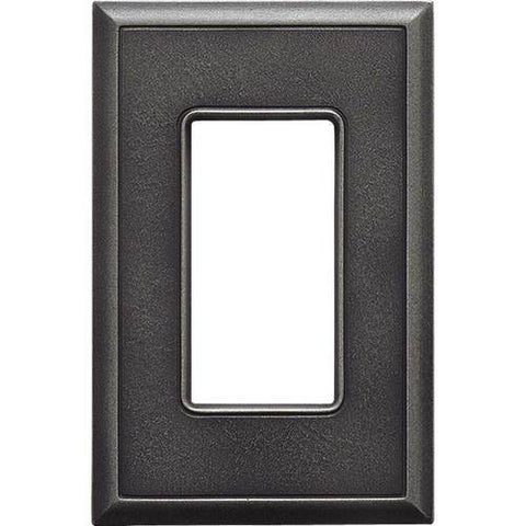 "Daltile Ion Metals 5"" x 3.30"" Antique Nickel Single GFCI Switch Plate - American Fast Floors"