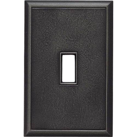 "Daltile Ion Metals 5"" x 3.30"" Antique Nickel Single Toggle Switch Plate"