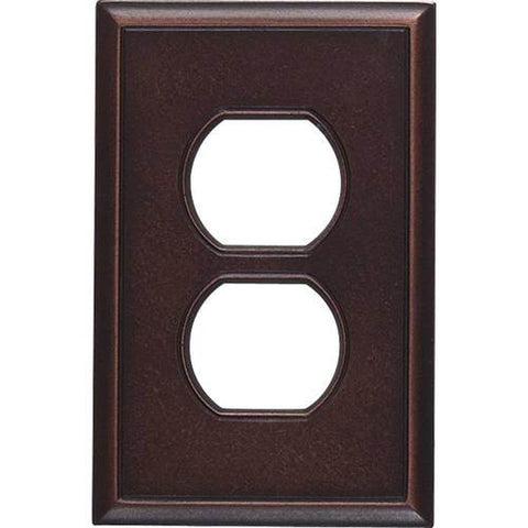 "Daltile Ion Metals 5"" x 3.30"" Oil Rubbed Bronze Single Duplex Switch Plate"