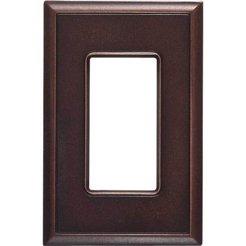 "Daltile Ion Metals 5"" x 3.30"" Oil Rubbed Bronze Single GFCI Switch Plate - American Fast Floors"