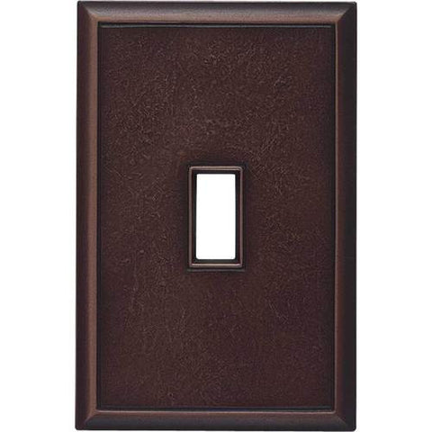 "Daltile Ion Metals 5"" x 3.30"" Oil Rubbed Bronze Single Toggle Switch Plate"