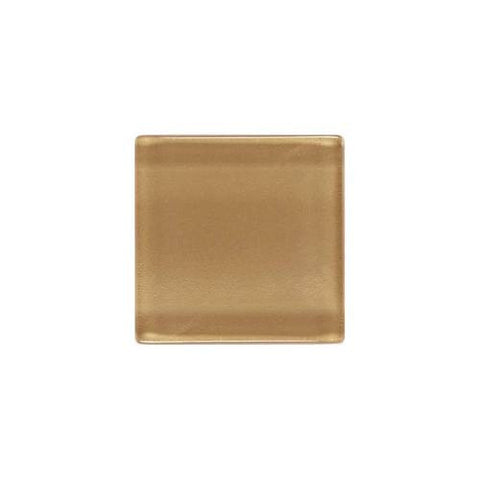 "Daltile ISIS 7/8"" x 7/8"" Amber Gold Mesh Mounted Solid Mosaic"