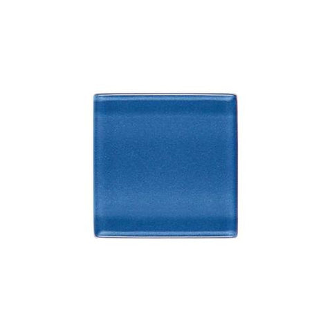 "Daltile ISIS 7/8"" x 7/8"" Polo Blue Mesh Mounted Solid Mosaic"